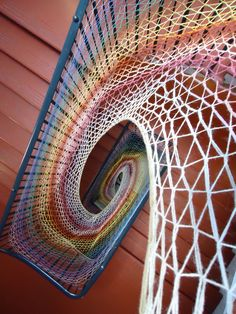 Dovecot Studios Edinburgh, Shane Walltener installation up the stairs at the Dovecote Studios Edinburgh
