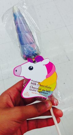 Delicious chocolate unicorn horn so adorable @CafeMermaidMist