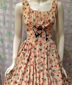"sweet fifties sixties dress, goes on etsy july 26, 2012 $89 waist is 23"""