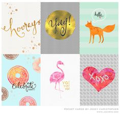 FREEBIES Pocket Cards By Jessy Christopher