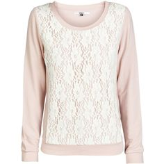 ONLY Lace Detailed Long Sleeved Blouse (€17) ❤ liked on Polyvore featuring tops, blouses, sweaters, shirts, silver pink, tall long sleeve shirts, floral blouse, white floral shirt, long sleeve shirts and floral long sleeve shirt