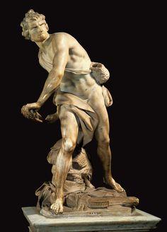 Gian Lorenzo Bernini Artwork | Gian Lorenzo Bernini - David, 1623-24. Marble