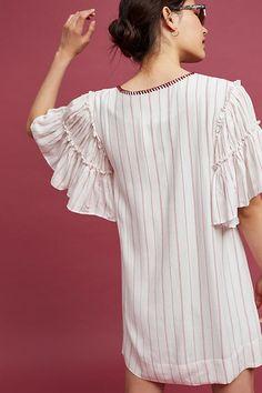 Ira Tasseled Mini Dress | Anthropologie