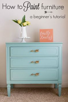 How to paint furniture with General Finishes Milk Paint; custom color with 2…