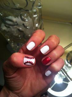 st. louis cardinals baseball nails
