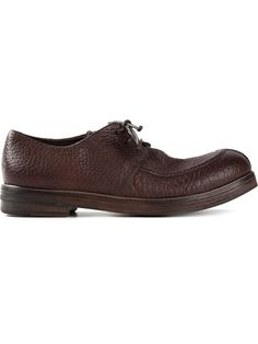 MARSELL cracked leather lace-up shoes