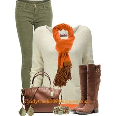 """""""Fringe Scarf"""" by cindycook10 on Polyvore"""