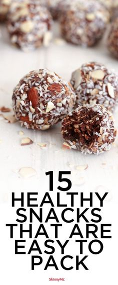 15 Healthy Snacks That Are Easy to Pack | Healthy Snacks | On The Go Snacks | Easy Recipes