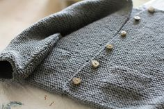 the most beautiful garter sweater. knit by lorix5, pattern by carrie bostick hoge. those buttons are to die for.