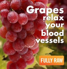 Did you know that eating a mono-meal of fresh grapes can relax your blood vessels in the same way as drinking wine? The colorful red properties in the grapes actually have a calming, cleansing, and re-energizing effect in your body. Mono Meals, Fruitarian Diet, Alcohol Detox, Beautiful Fruits, Raw Vegan Recipes, Delicious Fruit, Fruit Art, Eating Raw, Wine Drinks