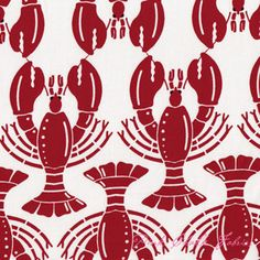cool lobster fabric--not sure what I'd use it for, though