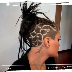 Image result for hair tattoo designs