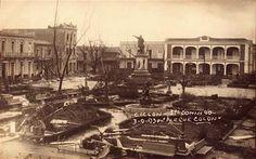 Como quedo el parque colon luego del Ciclon San Zenon en el 1930