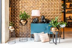 Rialheim launched our Wall tiles, Table lamp and Steel Planter Collection while opening our Flagship Store Decor, 3d Wall Tiles, Lamp Decor, Ceramics, Table Lamp, Handmade Ceramics, Planter Stand, South African Design, Ceramic Decor