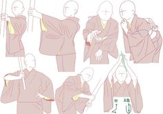 tanuki☼kimono — Kimono poses by Mizunoe Drawing Base, Manga Drawing, Wie Zeichnet Man Manga, Drawing Reference Poses, Drawing Clothes, Art Drawings Sketches, Drawing Techniques, Art Tutorials, Kimono