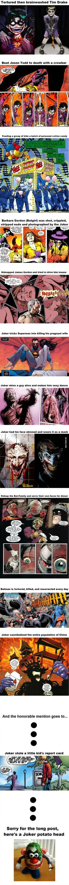 Why the Joker is one of the most f**ked up villains of all time.