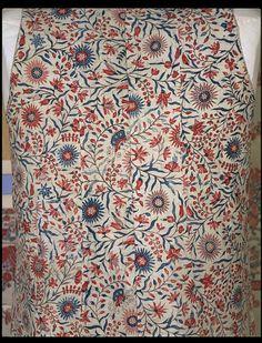 Waistcoat    Place of origin:  Coromandel Coast, India (fabric, made)   Britain, United Kingdom (waistcoat, made)    Date:  1770-1775 (made)