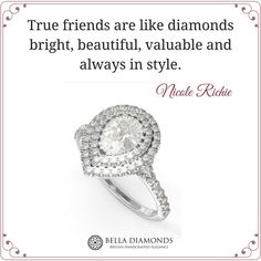 True friends are like #diamonds!   .  .  .  .  .  #firends #friendship #truefirends #truefriendship #quote #diamond #engagementring #engagementrings #BellaDiamonds #bespoke #bespokejewerly #jewerly #jewellery