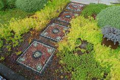 Jeffry Bale's rock mosaic garden path
