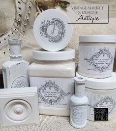 Vintage Market And Design Furniture Paint - A Chalk Based Paint The best neutral off-white. No yellow or pink undertones. Looks great with so many of our finishing products. *Note: Photos are our actu