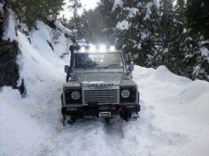 ....My Land Rover Defender 110 in Snow . @Dr.Junaid Kazi