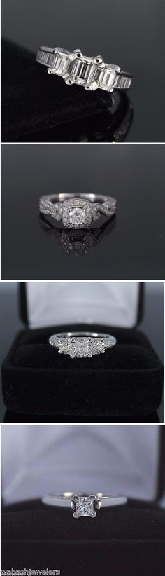 Diamond Engagement Ring - Diamond Rings - Wedding Rings - Fine Jewelry - Sterling Silver Jewelry