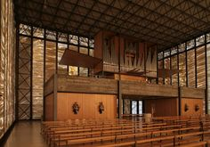 Pius-Kirche in Meggen Modern Church, Kirchen, Construction, Mansions, Architecture, House Styles, Building, Design Ideas, Home Decor