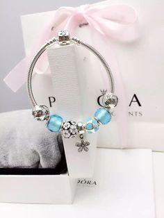 50% OFF!!! $199 Pandora Charm Bracelet Blue. Hot Sale!!! SKU: CB02037 - PANDORA Bracelet Ideas