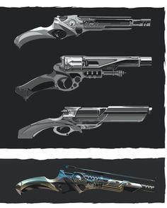 "maciek-nia: "" Dishonored 2 - Weapons 1 The Art of Dishonored 2 "" Steampunk Weapons, Sci Fi Weapons, Weapon Concept Art, Weapons Guns, Fantasy Weapons, Sci Fi Fantasy, Sword Design, Future Weapons, Star Wars Rpg"