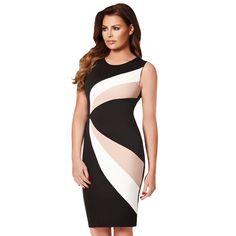 bd24ee8c7a 2017 casual vestido de fiesta de noche elegante negro blanco colorblock  vaina MIDI vestido de lápiz bodycon vestido vendaje sexy vestido