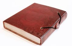 Leather Bound OM Hand Made Recycled Paper Journal/Sketch Book, Leather bound journal, Leather bound book