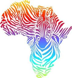 Illustration about vector illustration of abstract Africa as a rainbow zebra skin. Illustration of country, zebra, pattern - 35212626 Africa Map Tattoo, Africa Tattoos, Map Tattoos, Tatoos, Africa Continent, Afrique Art, African Paintings, African Drawings, Rainbow Zebra