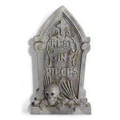Rest in Pieces Tombstone with Skull from GrandinRoad.com ($89.00, 4/1/14)