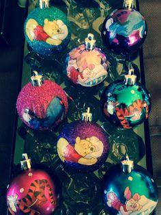 Winnie the Pooh Christmas Ornaments by CreativeGitana on Etsy, $15.50