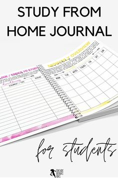 Help your students learn how to study from home with this self lead guide / journal that comes in both printable and digital options for your students. This resource is ready to use. It comes with a 17 page printable journal for them to fill in, and there is a digital version available too for them to type directly into the document, should they prefer. I hope this helps your students as they learn the discipline it takes to study from home! Teaching Character, Character Education, Character Development, Personal Development, Life Skills Lessons, Health Lessons, Growth Mindset Display, Academic Goals, New Years Activities