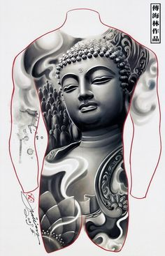 wonderful buddha head statue tattoo design tatouages bouddhiste pinterest bouddha. Black Bedroom Furniture Sets. Home Design Ideas