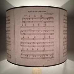 BEATLES All You Need Is Love music notes lamps shade by Patturn