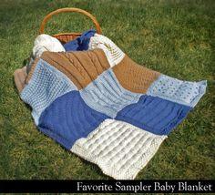 Favorite Sampler Baby Blanket via Craftsy