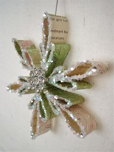 Items similar to CUSTOM: Vintage Topography Map Snowflake Ornament (1940s - 1970s / Southern CA) on Etsy