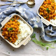 Chana Masala is an easy Indian dish that is naturally vegan, full of flavor and completely satisfying!