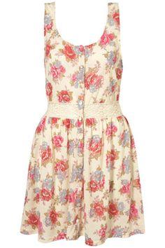 BLUSH ROSE CROCHET WAIST DRESS  I'd like this with a longer skirt    Price:$60.00