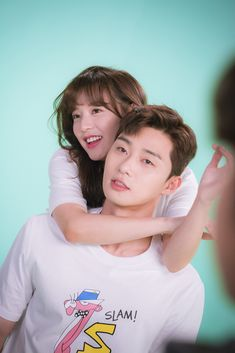 "fightformyway: ""Kim Ji Won & Park Seo Joon - Fight For My Way photoshoot bts """