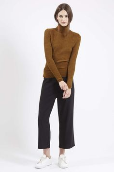 Photo 2 of Mini Cable Knit Roll Neck Sweater