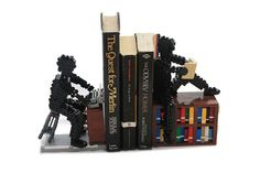 #LEGO Bookends.  The power of the written word has no bounds.  Wow.  From writer to reader--wishing I had one on my shelf.