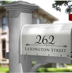 Mailbox Decal - Address Mailbox Decal - Personalized Mailbox And Doors Decals