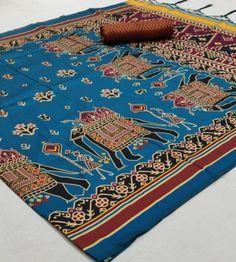Fabric Details:Soft Silk Patola Silk Saree Banarasi, Soft Silk Sarees, Designer Sarees Collection, Saree Collection, Handloom Weaving, Border Embroidery Designs, Sari Fabric, Traditional Sarees, Printed Sarees