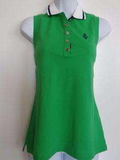 Ralph Lauren Sport Women's 100% Cotton Green Sleeveless Top Shirt Size: S M L XL #PoloRalphLauren #SleevelessTop