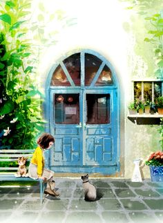 Nina cat next door cover illustration by 김지혁 Gimjihyeok