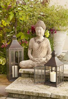 Sitting Buddha Foster serenity in your garden with Pier 1 Lanterns and Buddhas.Foster serenity in your garden with Pier 1 Lanterns and Buddhas.