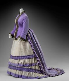 Dress | House of Worth | France; Paris | 1870 | silk faille, lace | Museum of Fine Arts, Boston | Acc #: 2002.696.1-5